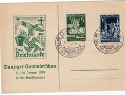 Propaganda Tolle Postkarte Danzig Tag Der Briefmarke Vom 14.1.1939 - Danzig