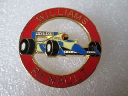 TOP  PIN'S   FORMULE 1  WILLIAMS  RENAULT   CAMEL   CANON  Ø 39 Mm - F1