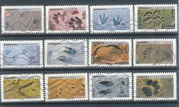 Superbe Série Adhésive Nouveauté Empreintes Animaux 2021 Oblitérée TTB - Adhesive Stamps