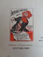 FACTURE- 75 - Dpt DE LA SEINE - PARIS 1er -1901 - IMPRIMEZ VOUS MÊME AVEC LE CYCLOSTYLE : A. GESTETNER, 44 RUE DU LOUVRE - Zonder Classificatie