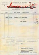 Facture Illustrée Conserves Du Périgord Truffes Et Foies Gras JOUBES & Co à SARLAT DU PERIGORD 24 Dordogne - 1950 - ...