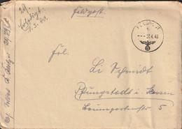 German Feldpost WW2: From Poland - Infanterie-Regiment 414 (6. Kompanie/II) FP 29796C Posted 27.4.1940 - Militaria