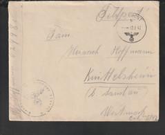 German Feldpost WW2: From Belgorod - Artillerie-Regiment 182 (11. Batterie/IV) FP 02948C Posted 10.6.1942 - Militaria