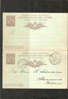 ITALIE . ENTIER AVEC REPONSE 10c  . De COLICO . Pour Les PAYS-BAS . 1891. - Interi Postali