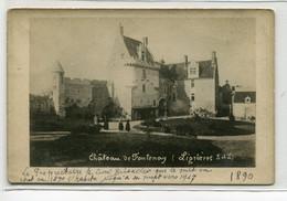37 LIGNIERES De TOURAINE CARTE PHOTO Fin 19em Chateau De FONTENAY Anim Cour  écrite Voir Dos  D27 2018 - Sonstige Gemeinden