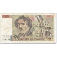France, 100 Francs, 1984, Undated (1984), B, KM:154b - 100 F 1978-1995 ''Delacroix''
