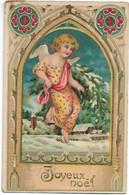 L330A0905 - Joyeux Noël - Petit Ange Dans Un Décor Hivernal - Léger Gauffrage, Paillettes - N°811 - Other