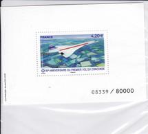 Sans Référence Yvert 50 ème Anniversaire Du Premier Vol Du Concorde Numéroté Sous Blister - 1960-.... Nuovi
