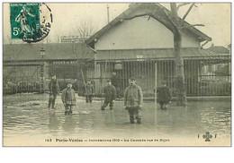 75.PARIS.n°2358.PARIS-VENISE.LA  CASCADE RUE DE DIJON - Alluvioni Del 1910