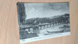 CPA - 74. Vue Du Château Et Du Pont De  SAINT CLOUD Au XVIIe S - Saint Cloud