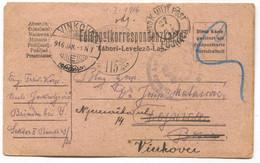 AUSTRIA HUNGARY WW1 - K.u.K. Spital Bršadin Vukovar, Seal Fojnica, Return Vinkovci, Year 1916. - WW1