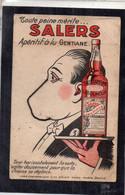 Publicité SALERS Toute Peine Mérite SALERS Apéritif Gentiane Chaine - Advertising