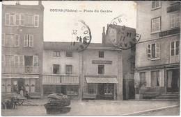 Cpa COURS ( Rhône) - Place Du Centre . - Cours-la-Ville