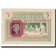 France, Bon De Solidarité, 5 Francs, SUP+ - Bons & Nécessité