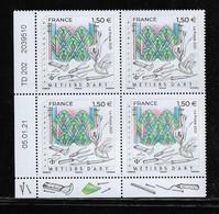 FRANCE  ( FCD22 - 123 )  2021  METIERS D'ART  VITRAILLISTE   N** - 2010-....