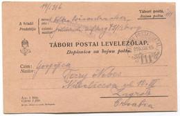 AUSTRIA HUNGARY WW1 - K.u.K. FELDPOST 111, Infant. Regiment Graf Jelačić  Nr. 79, Traveled To Zagreb, Year 1916. - WW1