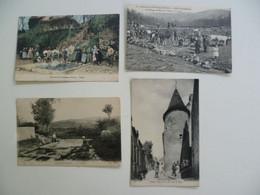 CPA / Lot De 4 Cartes Postales Anciennes / Nièvre 58 / Chateau-Chinon - Chateau Chinon