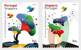 Portugal - Postfris / MNH - Complete Set Joint-Issue Met Singapore 2021 - Unused Stamps