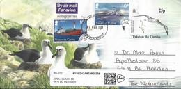 Tristan Da Cunha 2021 Atlantic Yellow-nosed Albatross Thalassarche Chlororhynchose Mail Ship Carlisle MV RSA Aerogramme - Albatro & Uccelli Marini