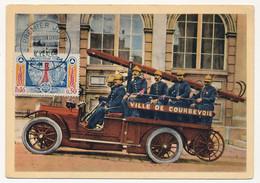 FRANCE - Carte Maximum - 0,30 Protection Civile - Premier Jour Paris 8/2/1964 Carte Camion De Pompiers Courbevoie - 1960-69