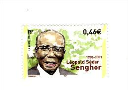 Senghor YT 3537a Avec Phospho à Cheval . Rare , Voir Le Scan . Cote YT : 15 € , Maury N° 3519a : 12 € . - Varietà: 2000-09 Nuovi