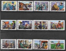 2020 FRANCE Adhésif 1909-20 Oblitérés, Covid, Tous Engagé, Série Complète - Adhesive Stamps