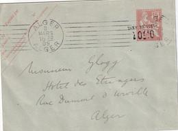 ALGERIE 1909      ENTIER POSTAL/GANZSACHE/POSTAL STATIONARY LETTRE DE ALGER - Andere
