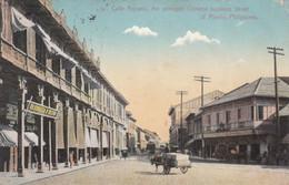 5725) CALLE ROSARIO - The Principal Chinese Business Street Of MANILA Philippines - Straßenbahn - Geschäft Kutsche Very - Filipinas