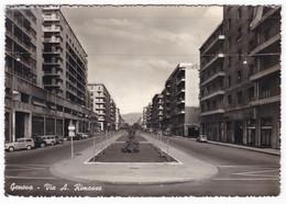 GENOVA - VIA A. RIMASSA - CARTOLINA SPEDITA 1956 - Genova