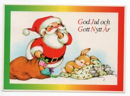 MODERN !! POSTCARD - 15 X 10.5 Cm. - FINLAND - CHRISTMAS - SANTA CLAUS - USED 1991 - Kerstman