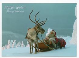 MODERN !! POSTCARD - 15 X 10.5 Cm. - FINLAND - CHRISTMAS - SANTA CLAUS - USED 2007 - Kerstman