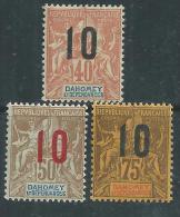 Dahomey N° 39 / 40 + 42  X  Type Groupe Surchargés Les 3 Valeurs  Trace De Charnière Sinon TB - Usati