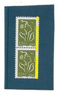 Lamouche 0.64 € Olive Type I YT 3756e : Paire Phospho à Cheval . Superbe, Voir Scan. Cote YT > 16 € Maury N° 3742 > 10 € - Varietà: 2000-09 Nuovi