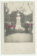 HOUILLES Carte Photo  Cérémonie Statue Victor Schoelcher - Houilles