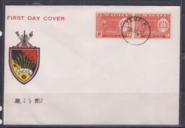 Negri Sembilan 1957 Pictorial Postage Stamp FDC - Maleisië (1964-...)
