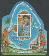 Wallis Et Futuna B.F. N° 22 XX  : 240ème Anni. De La Découverte De L'Ile Uvé Par Samuel Wallis, Le Bloc Sans Charni. TB - Unclassified