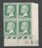 Coins Datés De France Neuf *  N 174  Année 1926  Charnière En Haut - ....-1929