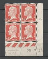 """Coins Datés De France Neuf *  N 175  Année 1934  Charnière En Haut  """"erreur De Date"""" - ....-1929"""