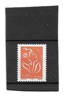 Lamouche 1 € Orange ITVF Type I YT 3739f : Papier Avec Fils De Soie . Superbe , Voir Le Scan . Cote YT : 25 € . - Varietà: 2000-09 Nuovi