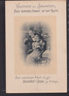 B57 /   Sprichwörter / Reklame Blooker Cacao Kakao Um 1900 ...nach Getaner Arbeit... / Ihle , Wien - Publicidad