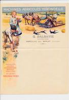 Facture Illustrée ( Vierge ) Machines Agricoles Hirondelle Constructeur G. DALBAVIE à MARCILLAC Par SARLAT Dordogne - 1900 – 1949