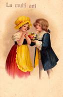 ENFANT De BELLE ÉPOQUE / BOY And GIRL - ILLUSTRATION Style ELLEN CLAPSADDLE ~ 1910 - '920 - SUPERBE ! (ah402) - Clapsaddle