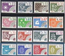 France Timbres Préoblitéré N° Yvert  186 à 201  Neuf Sans Charnière - 1964-1988