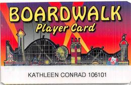 Boardwalk Casino Las Vegas Printed Laminated Paper Card With White Label   ....[RSC]..... - Casino Cards