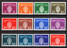 NORWEGEN, 1939-1945 Dienstmarken Wappen Kl. Format, Postfrisch ** - Officials