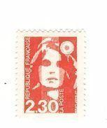 Briat 2fr30 Rouge YT 2614f : Faux De Marseille Dentelé 13 Sans Phospho . Rare, Voir Scan . Cote YT : 50 € , Maury : 40 € - Abarten: 1980-89 Ungebraucht
