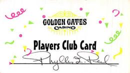 Golden Gates Casino Black Hawk CO Paper Slot Card   ....[RSC]..... - Casino Cards