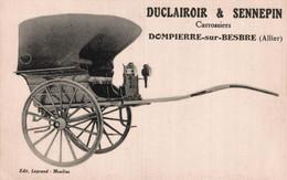 03 DOMPIERRE-sur-BESBRE  CPA   RARE   Duclairoir & Sennepin  Carrossiers     TBE - Otros Municipios