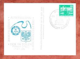 PP, Berlin Rathausstrasse, SoSt Briefmarkenausstellung Freundschaft DDR Polen Frankfurt 1980 (4663) - Privatpostkarten - Gebraucht