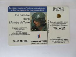 Télécarte 50 Relative à Une Carrière Dans Les Transmissions De L'armée De Terre - Esercito